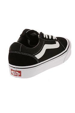 ... boty Vans Ward - Suede Canvas Black White 69c44985b60
