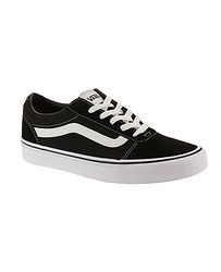 topánky Vans Ward - Suede Canvas Black White 12aac303ac