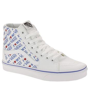 shoes Vans Sk8-Hi - I Heart Vans True White True White - blackcomb ... 4a40abca3