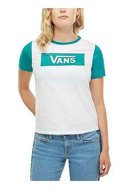 1745ffc37f tričko Vans V Tangle Range Ringer - White Quetzal ...