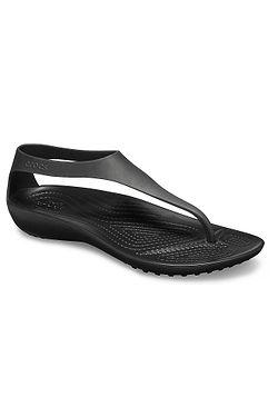 1fb69cbaa6c boty Crocs Serena Flip - Black Black ...