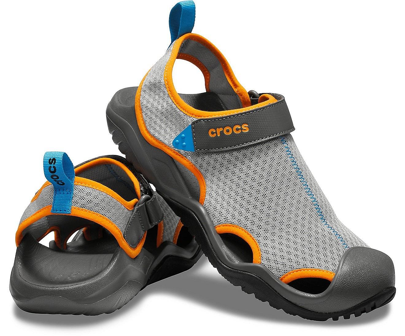 Crocs Mens Swiftwater Mesh Deck Sandal Sport