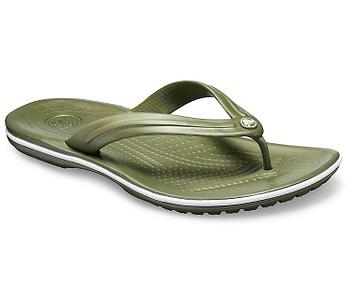 žabky Crocs Crocband Flip - Army Green/White