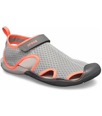 d7e30a96756d boty Crocs Swiftwater Mesh Sandal - Light Gray Pearl White ...