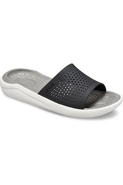 cdd6046edb topánky Crocs LiteRide Slide - Black Smoke ...