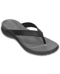 žabky Crocs Capri V Flip - Black Graphite 8795ee4ea9c