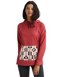 d8e2f7e0d mikina Burton Crown Bonded Pullover - Burnt Sienna Heather/Burnt Sienna  Brickstripe
