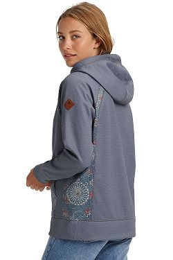 4961c01d1 ... mikina Burton Crown Bonded Pullover - Dark Slate Heather/Domo Print