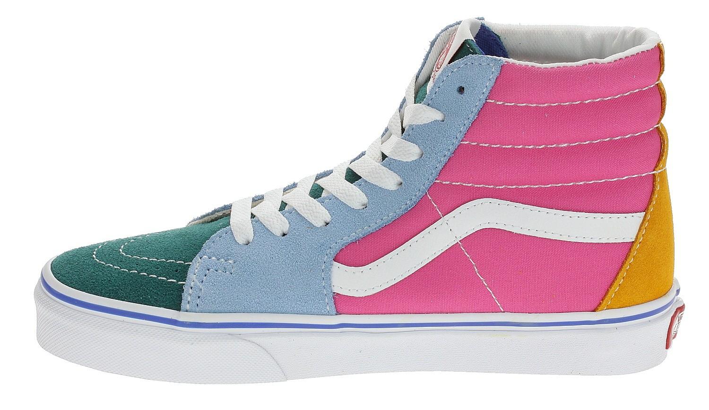 Vans Sk8 Hi Checkerboard Skate Shoe Violet Cyan