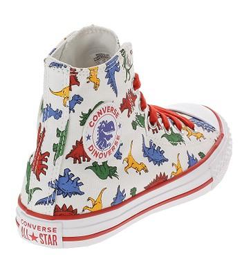 d91f60058e dětské boty Converse Chuck Taylor All Star Dinoverse Hi -  663636 White Enamel Red Totally Blue