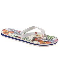 8973a215f5e2f žabky Desigual 19SSHF17/Flip Flop Tropical White - 1000/Blanco