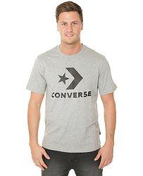 27e73d2481b0e tričko Converse Star Chevron/10007888 - A18/Vintage Heather Gray Multi