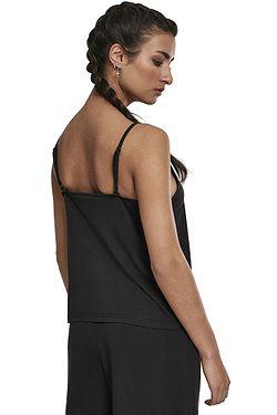 fbac875459 ... maillot de corps Urban Classics Laces Triangle/TB2595 - Black - women´s
