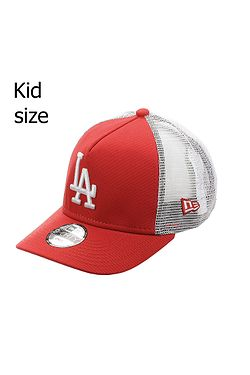 3019ef09e detská šiltovka New Era 9FO Aframe Trucker MLB Los Angeles Dodgers Child -  Scarlet/White
