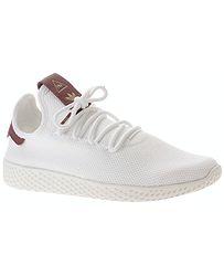 354e57a1e5989 topánky adidas Originals Pharrell Williams Tennis HU - White/White/ Collegiate Burgundy