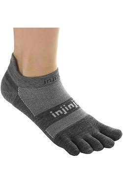 7009c9ab649 ponožky Injinji Run Lightweight No Show Nüwool - Charcoal