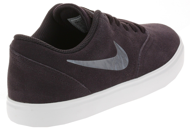 shoes Nike SB Check Suede Ess GS - Burgundy Ash/Metallic Blue ...