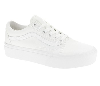 boty Vans Old Skool Platform - True White