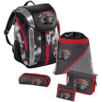 schoolbags Hama - Step By Step 103146/Flexline Truck - Gray/Black/Red - kid´s