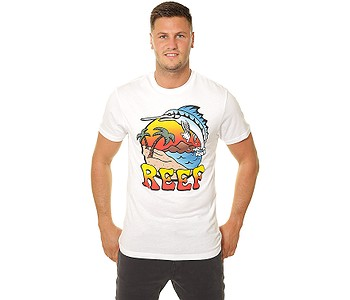 tričko Reef Deep Sea Fish - White