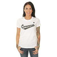 T-shirt Converse Center Front Logo/10018268 - A04/White - women´s