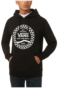 sweatshirt Vans Checkered Side Stripe Front - Black - men´s