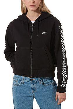 sweatshirt Vans Funnier Times Crop Zip - Black - women´s