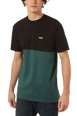 T-Shirt Vans Colorblock - Black/Vans Trekking Green - men´s