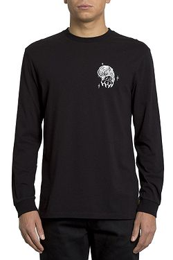 tričko Volcom Mike Giant Fa LS - Black