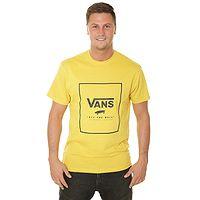T-Shirt Vans Print Box - Sulphur/Black - men´s