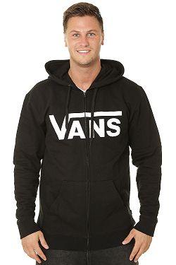 sweatshirt Vans Classic Zip - Black/White - men´s