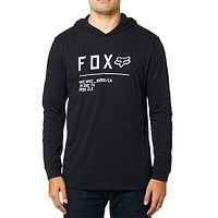 T-Shirt Fox Non Stop Hooded Knit LS - Black - men´s