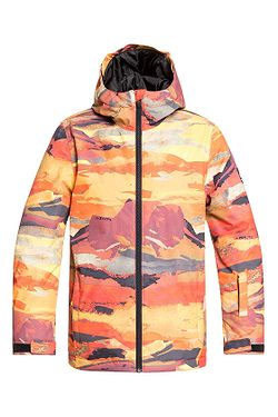 jacket Quiksilver Mission Printed - RQJ1/Barn Red Matte Painting - boy´s