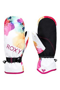 glove Roxy Jetty Mitt - WBB8/Bright White Sunshine Flowers - women´s