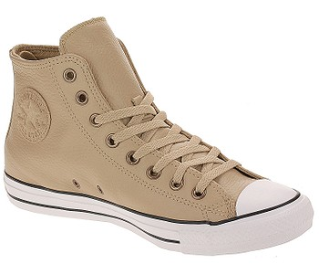 topánky Converse Chuck Taylor All Star Leather Hi - 165190/Champagne Tan/White/Black