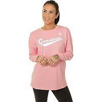 T-Shirt Converse Nova Crew LS/10017054 - A04/Coastal Pink - women´s