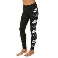 legíny Nike Sportswear Legasee Flip - 011/Black/White