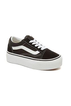 shoes Vans Old Skool Platform - Black/True White - unisex junior