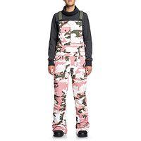 pants DC Collective Bib - MKP6/Dusty Rose Women Vintage Camo - women´s