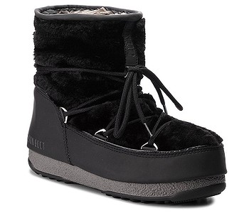 boty Tecnica Moon Boot Monaco Low Fur WP - Black