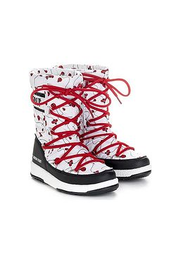 boty Tecnica Moon Boot Quilted Ladybug WP - Black/White/Red