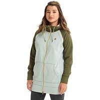 Sweatshirt Burton Crown Bonded Long Zip - Aqua Gray/Keef - women´s