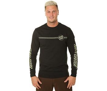 tričko Santa Cruz Opus Dot Stripes LS - Black