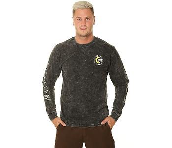 tričko Santa Cruz Kendall Wolf LS - Black Acid Wash