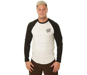 tričko Santa Cruz Opus Dot Baseball Top LS - Black/Athletic Heather