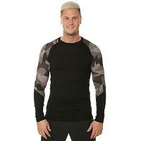 tričko Sensor Merino Impress LS - Black/Camo