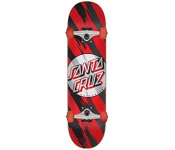 skateboard Santa Cruz Brush Dot Complete - Black/Red/White