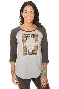 T-Shirt Burton Ashmore Raglan - Gray Heather/Phantom - women´s