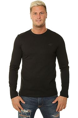 T-Shirt 4F H4Z19-TSML001 LS - 20S/Deep Black - men´s