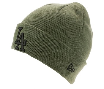 čepice New Era League Essential Cuff MLB Los Angeles Dodgers - New Olive
